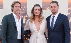 'Bom sex' Margot Robbie khoe sắc bên Brad Pitt, Leo DiCaprio