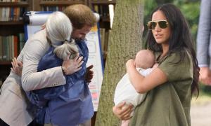 Vợ chồng Meghan bí mật đón 'thần tượng' tới thăm Archie