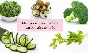 14 loại rau xanh có mặt thường xuyên trong chế độ low carb