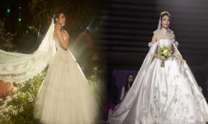 3 váy cưới lấy cảm hứng từ vẻ đẹp thiên nhiên của Đàm Thu Trang