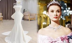 Váy cưới lấy cảm hứng từ đầm Audrey Hepburn
