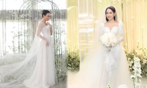 Sao Việt gợi ý 4 xu hướng váy cưới 'gây bão' mùa thu đông