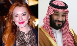 Lindsay Lohan bị đồn hẹn hò Thái tử Ảrập