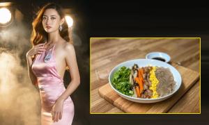 Tân Hoa hậu Thùy Linh chăm chỉ nấu nướng, tính toán calo để giữ dáng