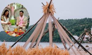 Tiệc bãi biển phong cách boho của cặp doanh nhân Ấn Độ ở Phú Quốc