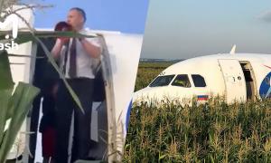 Phi công Nga gọi cho vợ sau khi cứu 233 người thoát tai nạn máy bay