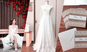 Cô dâu Việt tại Nhật dành gần 5 tháng tự may váy, làm thiệp cưới