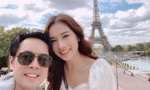 Dương Khắc Linh đưa Sara Lưu du hí châu Âu