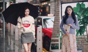 Phối áo len, áo nỉ cho ngày mưa