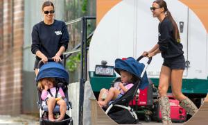 Irina Shayk đưa con gái dạo phố