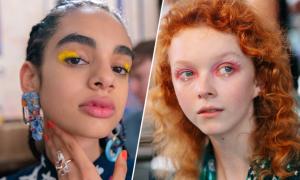 Trang điểm mắt màu neon 'phủ sóng' sàn diễn thời trang New York