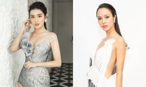 Huyền My, Vũ Ngọc Anh diện váy cắt xẻ