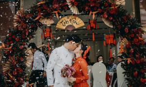 Chú rể Cà Mau làm lễ thành hôn phong cách Trung Hoa