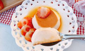 Bánh flan vị dâu