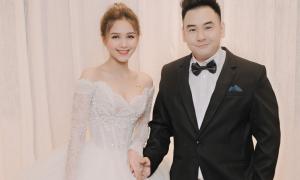 Chị dâu Diệp Lâm Anh diện 3 váy cưới đính Swarovski