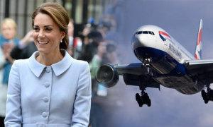 Kate đặt chỗ riêng cho váy áo trên máy bay