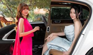 Lan Ngọc, Jun Vũ ngồi xe sang dự event
