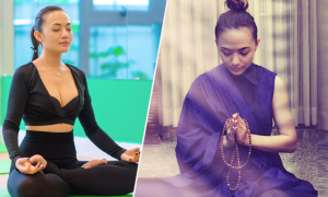 Tina Tình ăn chay, luyện yoga để giữ gìn sắc vóc