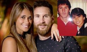 Messi hoài niệm thời tuổi teen bên vợ