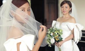 Váy cưới của Văn Mai Hương trong 'Nghe nói anh sắp kết hôn'