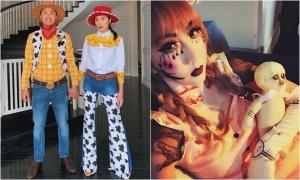 Sao Việt hóa trang Halloween
