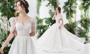 Váy cưới 2 trong 1 lấy cảm hứng từ đóa hoa