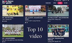Top 10 video nhiều lượt vote nhất 'Kpop Dance For Youth'