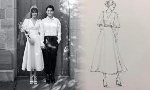 Váy chụp ảnh cưới của Đông Nhi được làm trong 1 tuần