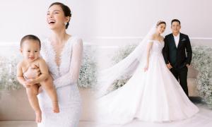 Giang Hồng Ngọc chụp ảnh cưới cùng chồng và con trai