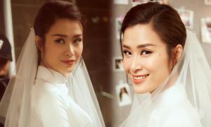 Đông Nhi makeup tông cam cho lễ vu quy