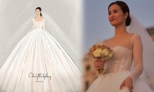Váy cưới của Đông Nhi làm hơn 6 tháng