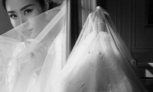Voan cưới thêu bản tình ca của Đông Nhi