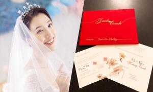 Thiệp cưới của Hoàng Oanh được làm trong 3 tuần