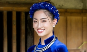 Hoa hậu Lương Thuỳ Linh tự giới thiệu bằng tiếng Anh