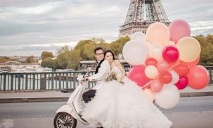 Ảnh cưới ở Paris của người đẹp Thu Hà