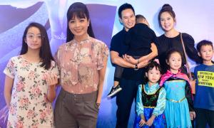 Sao Việt đưa con đi xem 'Frozen 2'