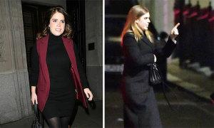 Hai con gái đi tiệc sau khi Hoàng tử Andrew bị 'sa thải'