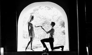 Ảnh sao 26/11: Ảnh cưới như tranh của Hoàng Oanh