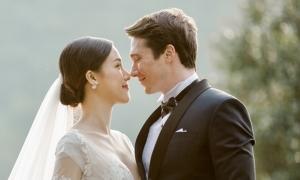 Hoàng Oanh e ấp bên chồng Tây trong ảnh cưới