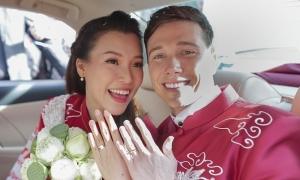 Lễ rước dâu của Hoàng Oanh và chồng Tây