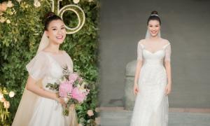 Cô dâu Hoàng Oanh diện 2 váy cưới