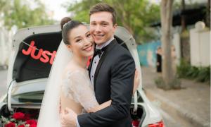 Hoàng Oanh makeup hồng pastel cho tiệc cưới