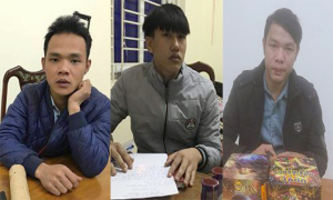 Ba thanh niên bị bắt vì đốt pháo khi 'đi bão'