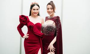 Phương Oanh diễn thời trang cùng vợ Tuấn Hưng