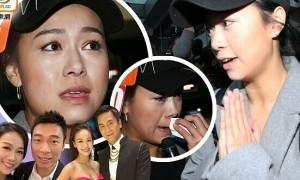 'Á hậu cướp chồng' khóc khi về Hong Kong