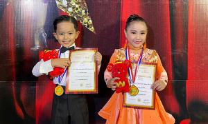 Kubi nhà Khánh Thi đoạt 2 huy chương dancesport