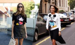 Phối đồ cùng áo chuột Mickey