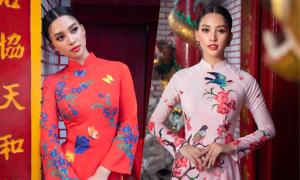Hoa hậu Tiểu Vy gợi ý chọn áo dài Tết