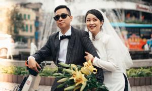 Ảnh cưới phong cách Hà Nội xưa của Mi Vân