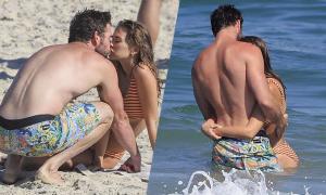 Liam Hemsworth âu yếm bạn gái mới
